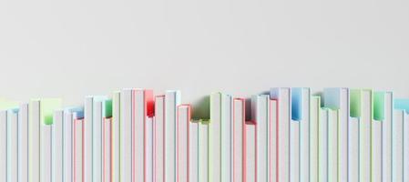 bannière d'une rangée de livres colorés