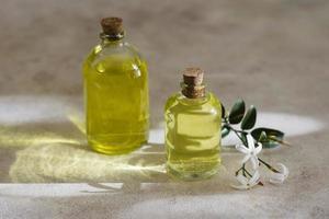 huiles d'olive naturelles de haute vue photo