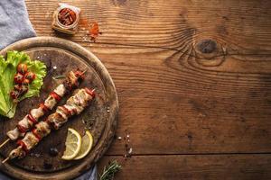 concept de viande à plat avec espace de copie photo