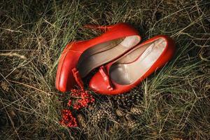 chaussures vintage de mariage photo