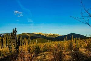 les couleurs d'automne ornent l'arrière-pays photo