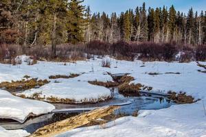 neige sur un ruisseau photo