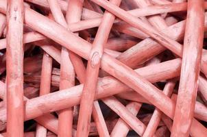 Rotin en bois rouge, macro gros plan, fond abstrait photo