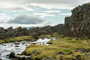 Fissure continentale à thingvellir en Islande photo