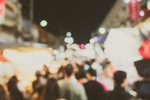 marché défocalisé abstrait la nuit photo