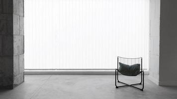 chaise de travail vue de face avec espace copie photo
