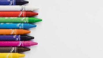 close-up collection de crayons de couleur photo