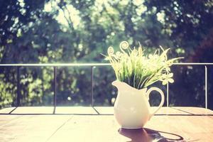 décoration de vase avec vue extérieure photo