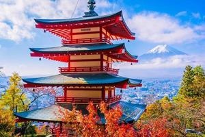 beau paysage de mt. Fuji de la pagode Chureito photo
