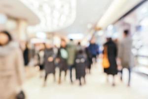 Résumé de l'intérieur du centre commercial défocalisé, peut être utilisé comme arrière-plan photo