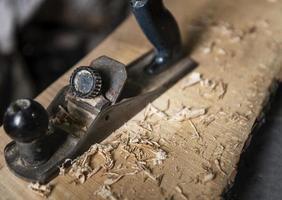 Gros plan du projet de travail du bois photo