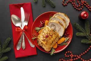 composition de plat de Noël festif photo