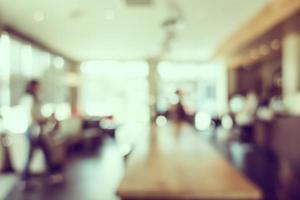 intérieur de café floue pour le fond photo