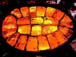 couche de brique de verre colorée brillante photo