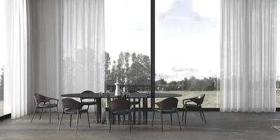 salle à manger minimaliste de luxe photo