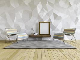 Mur de polygone intérieur 3D photo