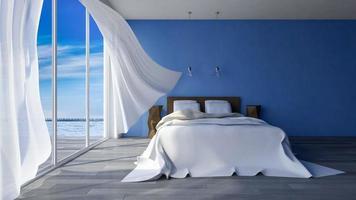 3d chambre à coucher en bord de mer photo
