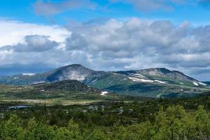 vue depuis l'immensité des hauts plateaux suédois photo
