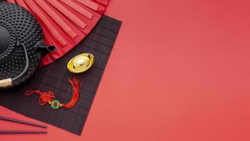 théière et pendentif pour le nouvel an chinois photo