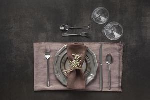 réglage de la table à plat photo