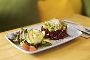cuisine gastronomique sur assiette photo