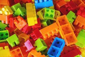 fond de bloc de jouet photo