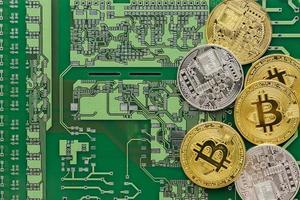 bitcoins sur le disque dur photo
