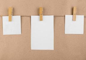 notes autocollantes blanches avec espace de copie photo