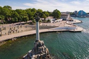 vue aérienne du paysage urbain avec vue sur les sites touristiques. photo