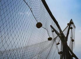 image de fond d'un filet de pêche photo