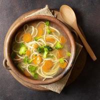 bol de soupe de nouilles vue de dessus photo