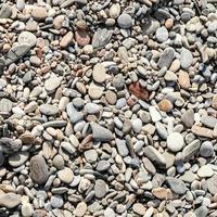 gros galets de plage photo