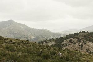 vue sur les montagnes lors d'une randonnée photo