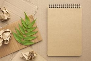 fond de concept écologique pour ordinateur portable photo