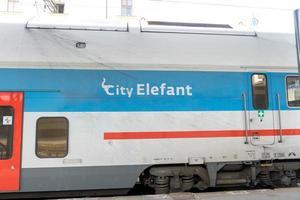 tchec cityelefant train photo