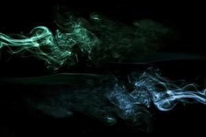 fond noir de fumée bleu vert réaliste. beau concept de photo de haute qualité et résolution