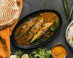 vue de dessus délicieux repas de poisson. beau concept de photo de haute qualité et résolution