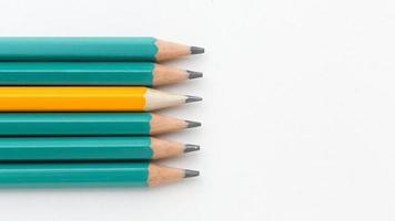 collection de crayons vue de dessus. beau concept de photo de haute qualité et résolution