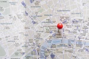 Carte de l'ouest de Londres avec épingle. beau concept de photo de haute qualité et résolution