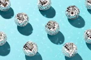 boules disco à plat photo