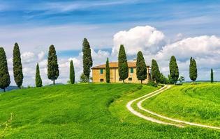vue idyllique en toscane photo