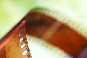 Image floue d'un film photographique 35 mm photo