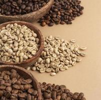 bols avec grains de café photo