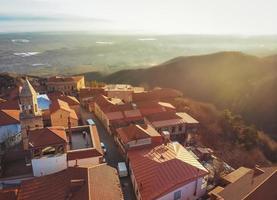 lever du soleil à sighnaghi photo