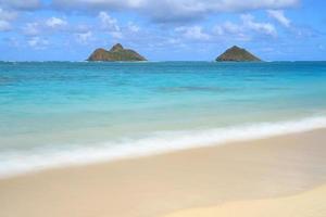 Vue de la plage de Lanikai à Hawaï photo