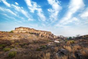 Fort de Mehrangarh à Jodhpur, Rajasthan, Inde. un patrimoine mondial de l'unesco. photo