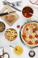 Tartinade de table de cuisine italienne photo