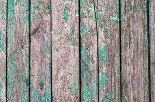 vieilles planches de bois avec de la peinture verte photo