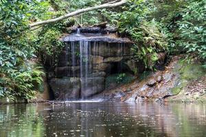 Petite cascade dans le parc de lage à rio de janeiro photo