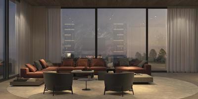 ensemble de salon de luxe moderne photo